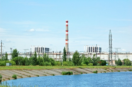 PRIPYAT, UKRAINE - JUNE 27: General view of Chernobyl nuclear power station on June 27, 2010 in Pripyat, Ukraine. A nuclear disaster happened here after reactor number 4 exploded 25 years ago Stock Photo - 13226321