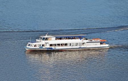 the dnieper: Tourist boat on the Dnieper river, Kiev, Ukraine