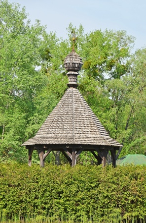 tuinhuis: Vintage houten zomerhuis op het meer, Pereiaslav-Khmelnytskyi, Oekraïne