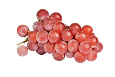 uva: Bunch of red grape, isolated on a white background