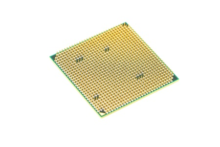 byte: Computer processor (CPU), isolated on white background Stock Photo