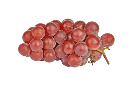 Bunch of red grape, isolated on a white background photo
