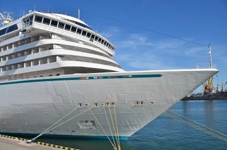 Cruise tourist ship in Black sea, Odessa, Ukraine photo
