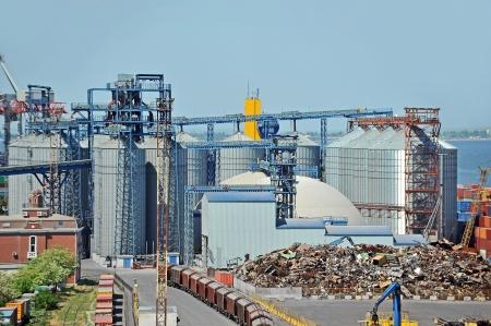 Grain dryer in the port of Odessa, Ukraine photo