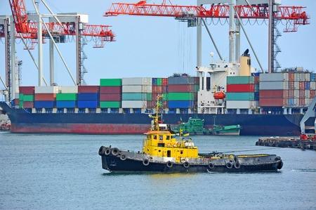 tugboat: Tugboat in harbor quayside on Odessa, Ukraine