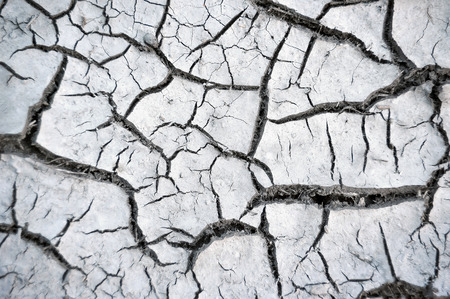 Cracked soil after drought texture background, close up photo