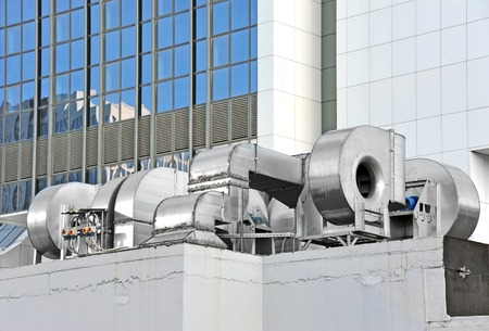 cooling: Industrial steel air conditioning and ventilation systems