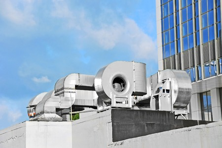 air plant: Industrial steel air conditioning and ventilation systems