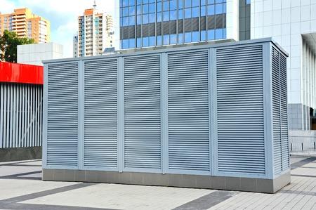 Industriële airconditioning en ventilatiesystemen aan de sreet