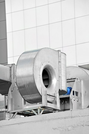 Industrial steel air conditioning and ventilation systems photo