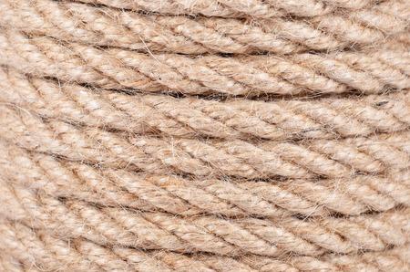 Close-up of natural fiber manila rope background