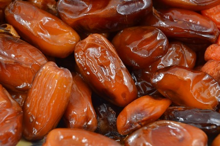 date fruit: Tasty delicious dried date fruit, close up