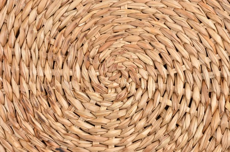 trivet: Twisted dry straw background, close up, DOF