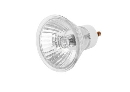 halogen: One halogen lamp, isolated on white background