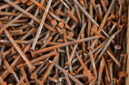 rusty nail: Old big and rusty nail, close up