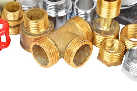 aeration: Set of plumbing elements, isolated on white background Stock Photo