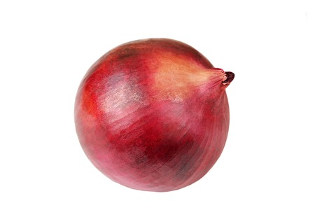 poignant: Red onion bulb, isolated on white background