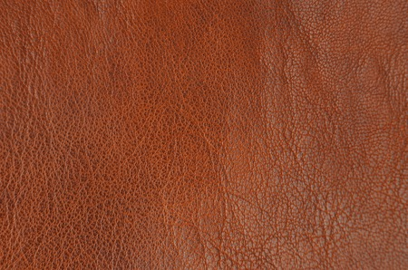 Close up of natural brown leather background