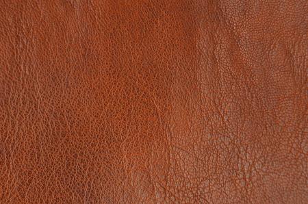 Close-up van natuurlijke bruine leder achtergrond Stockfoto