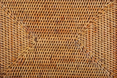 straw twig: Wickered dry rattan wooden background, close up Stock Photo