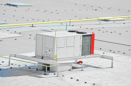 ventilate: Industrial air conditioning and ventilation systems on a roof