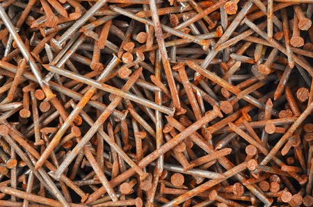 rusty nail: Rusty nail, close up, as background, DOF