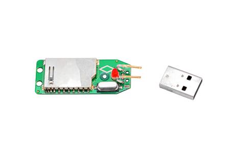 gigabytes: Crashed usb flash memory, isolated on white background