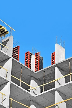 formwork: Concrete formwork with a folding mechanism on construction site