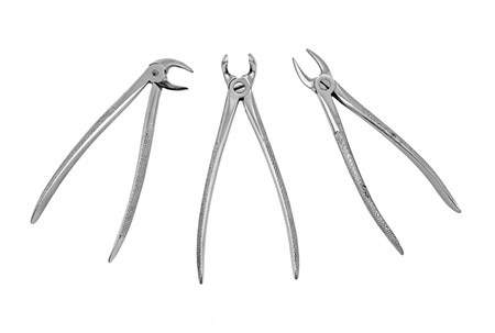 pinchers: Dental pliers tool, isolated on white background