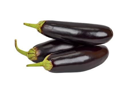 Ripe eggplant vegetable, isolated on white background Reklamní fotografie