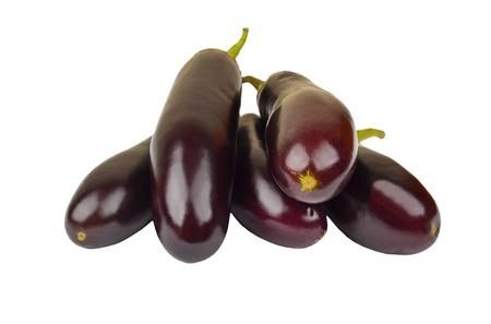 eggplant: Ripe eggplant vegetable, isolated on white background Stock Photo