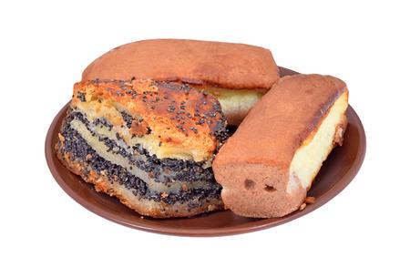 dulcet: Oriental sweet cake pakhlava, isolated on white background