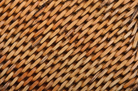 trivet: Wickered dry rattan wooden background, close up Stock Photo