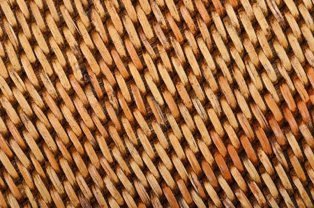 haulm: Wickered dry rattan wooden background, close up Stock Photo
