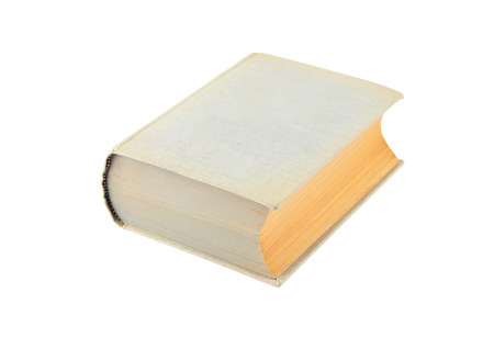 hardcover: Old hardcover book, isolated on white background