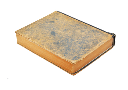 ragged: Ragged antique book, isolated on white background