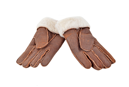 Warm winter glove, isolated on white background