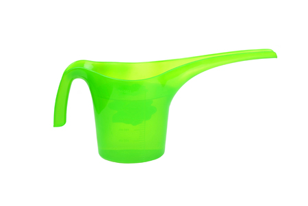 watering pot: Plastic watering pot, isolated on white background