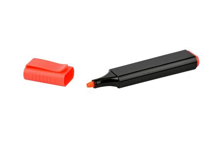 highlighter pen: Marker highlighter pen, isolated on white background Stock Photo