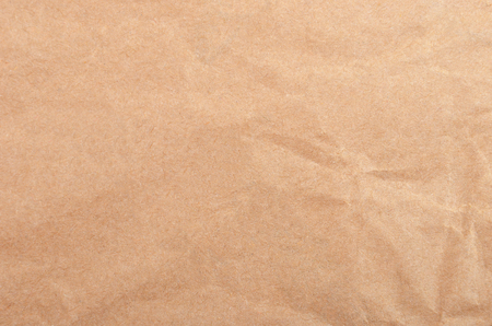 casing paper: Wrinkled packaging paper background, close up, DOF