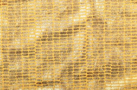 metalline: Golden textured brocade cloth background, close up