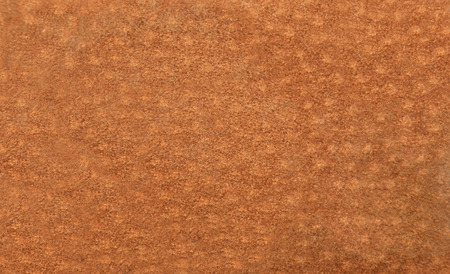 Close up of natural brown suede leather background Stock Photo