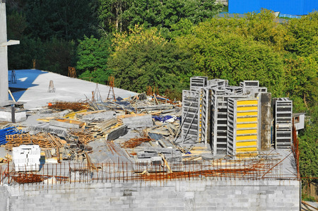 formwork: Formwork and equipment on construction site work