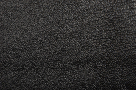 genuine good: Close up of natural black leather background