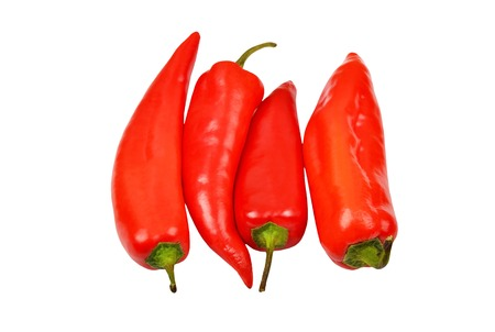Fresh red pepper, isolated on white background