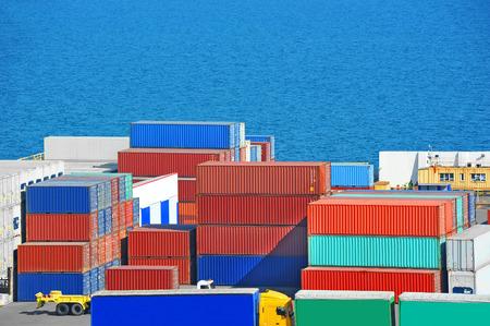 Port cargo container in port of Odessa, Ukraine