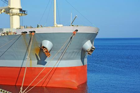 rostrum: Bulk carrier ship in port of Odessa, Ukraine