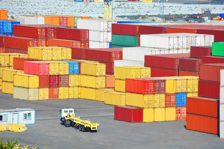 odessa: Port cargo container in port of Odessa, Ukraine