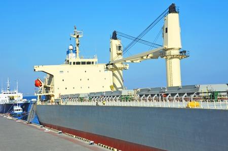 odessa: Bulk carrier ship in port of Odessa, Ukraine
