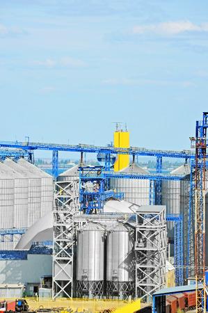 Grain dryer in port of Odessa, Ukraine